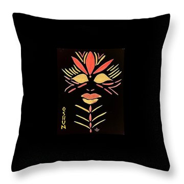 Throw Pillow featuring the painting Oshun by Cleaster Cotton