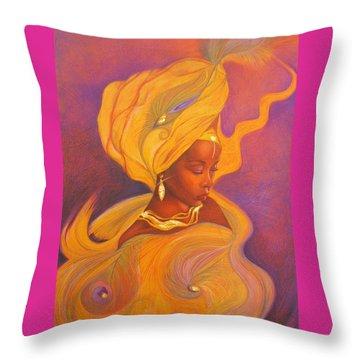 Oshun Goddess Throw Pillow