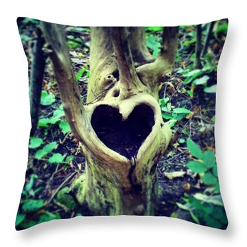 #oslo #landart #kunst  #nature #heart Throw Pillow