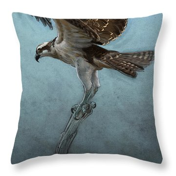 Osprey Throw Pillow by Aaron Blaise
