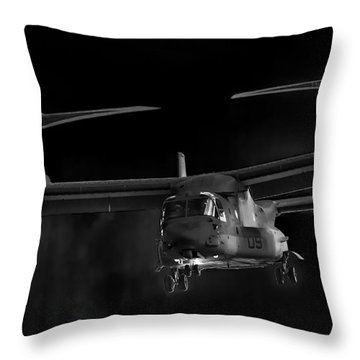 Osprey Night Ops Throw Pillow