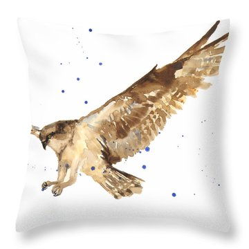 Osprey Painting Throw Pillow by Alison Fennell