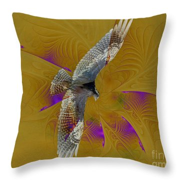 Osprey Wild Throw Pillow by Deborah Benoit