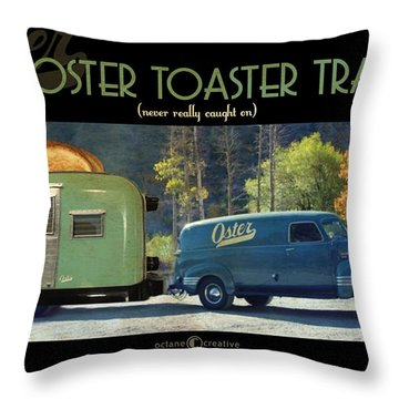 Oster Toaster Trailer Throw Pillow by Tim Nyberg