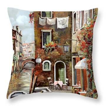 Osteria Sul Canale Throw Pillow