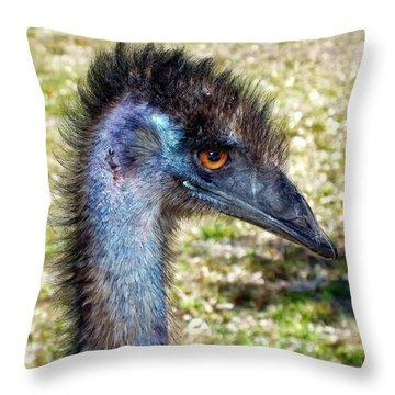 Throw Pillow featuring the photograph Ostrich 1 by Dawn Eshelman