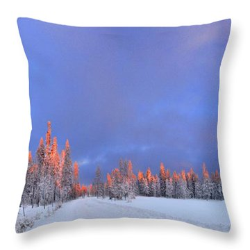 Other Side Of A Winter Sunset Throw Pillow