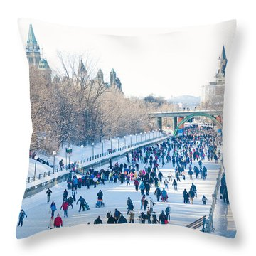 Ottawa Rideau Canal Throw Pillow by Cheryl Baxter