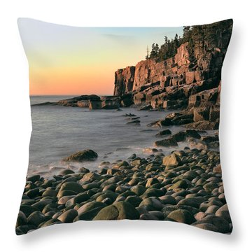 Otter Cliffs Throw Pillow by Jerry Fornarotto