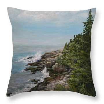 Otter Point - New England Throw Pillow