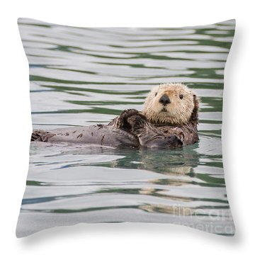 Otterly Adorable Throw Pillow