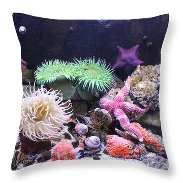 Our Colourful Underwater World Throw Pillow