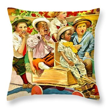 Our Gang Throw Pillow