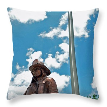 Throw Pillow featuring the photograph Our Heroes by Charlotte Schafer