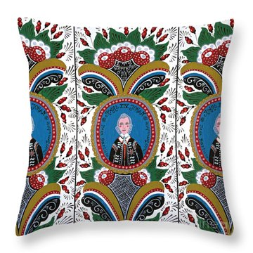 Our King  Throw Pillow by Leif Sodergren