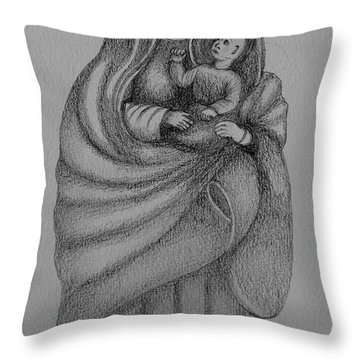 Our Lady Of Angels. Nuestra Se#ora De Los Angeles Throw Pillow