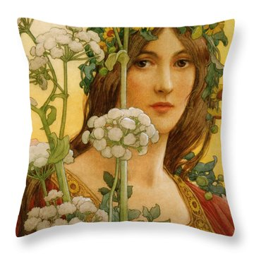 Cow Parsley Throw Pillows
