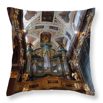 Our Lady Of Czestohowa Basilica Interior Throw Pillow by Jacqueline M Lewis