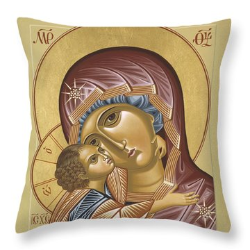 Our Lady Of Grace Vladimir 002 Throw Pillow