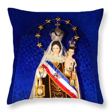 Our Lady Of Mount Carmel Chile Throw Pillow