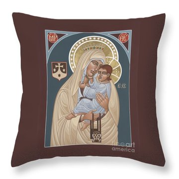 Throw Pillow featuring the painting Our Lady Of Mt. Carmel 255 by William Hart McNichols