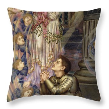 Our Lady Of Peace Throw Pillow by Evelyn De Morgan
