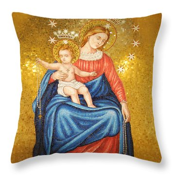 Our Lady Of Pompeii Throw Pillow by Philip Ralley