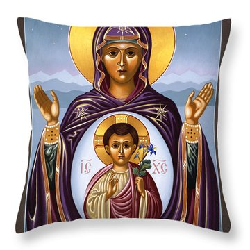 Our Lady Of The New Advent Gate Of Heaven 003 Throw Pillow
