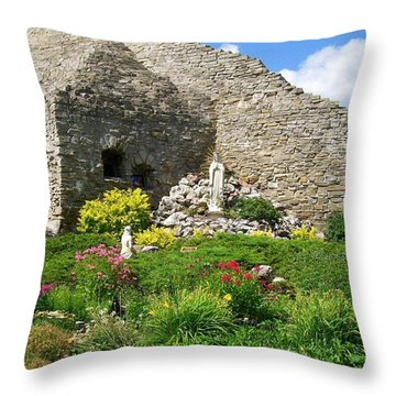 Our Lady Of The Woods Shrine Ll Throw Pillow