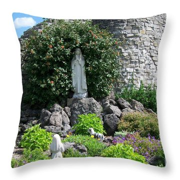 Our Lady Of The Woods Shrine Lll Throw Pillow