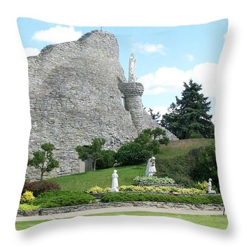 Our Lady Of The Woods Shrine Throw Pillow