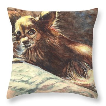 Chihuahua Angel Throw Pillow