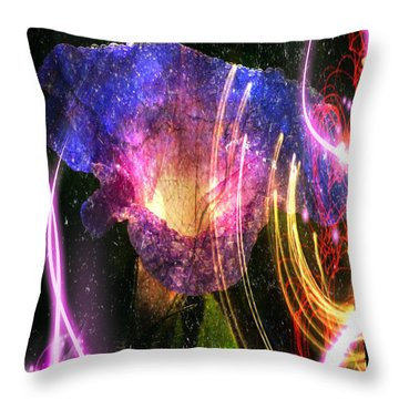 Throw Pillow featuring the digital art Our Love Is Now Forever Entwined by Absinthe Art By Michelle LeAnn Scott