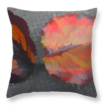 Our Maker's Palette Throw Pillow by Barbara McDevitt