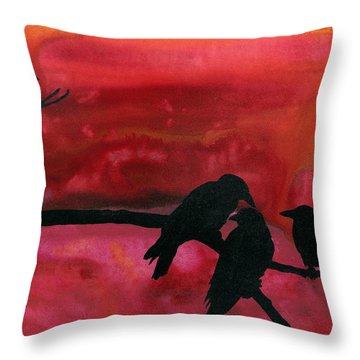 Our Murder Is Not Yours Throw Pillow by Jim Stark