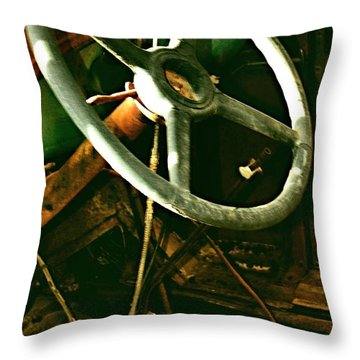 Throw Pillow featuring the photograph Our New Car by Don Wright
