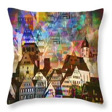 Our Old Town Throw Pillow