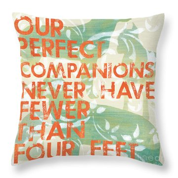 Our Perfect Companion Throw Pillow