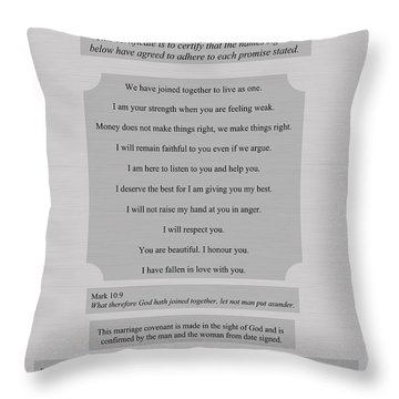 Our Promises Certificate Throw Pillow