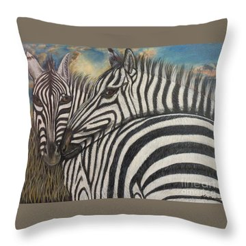 Our Stripes May Be Different But Our Hearts Beat As One Throw Pillow