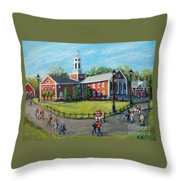 Our Time At Bentley University Throw Pillow