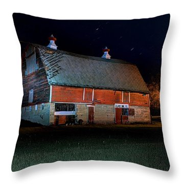 Out Back Of The Barn Throw Pillow