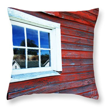 Out Buildings Throw Pillow