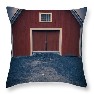 Out By The Barn Throw Pillow
