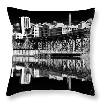 Out By Tobacco Row Throw Pillow by Tim Wilson
