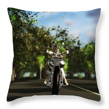 Throw Pillow featuring the digital art Out For A Ride... by Tim Fillingim