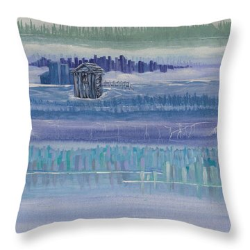 Out House In Nowhere Throw Pillow