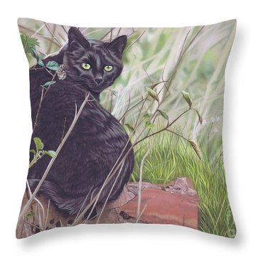 Out Hunting Throw Pillow