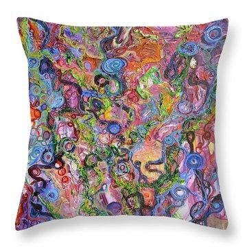Out Of Balance Throw Pillow by Regina Valluzzi
