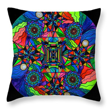Out Of Body Activation Grid Throw Pillow